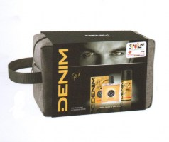 Denim Gold After Shave Lotion 100ml+Deo 250ml+Bag